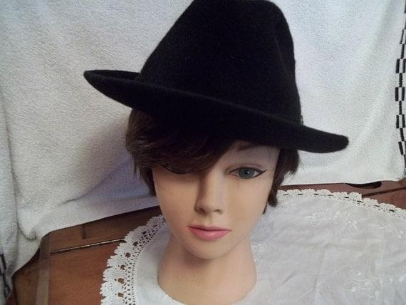 1940s Stetson Fedora Hat, Black 3X Beaver, Size 7 1/8, Gangster