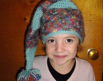 "Child's ""elf"" winter hat for boy or girl"