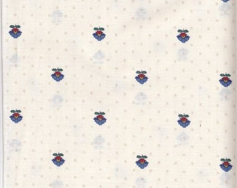 """Vintage Cotton Print Fabric  28"""" X 22"""" - V. I. P. Remnant 4 Charm Quilt Piecing - Patchwork - Sewing Craft Material 100 FQ"""