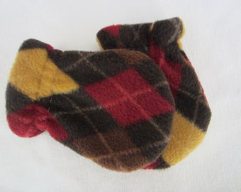 AUTUMN ARGYLE, infant/toddler fleece mittens