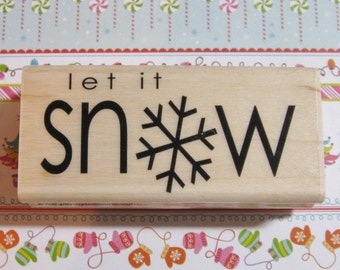 Let it Snow - Penny Black Rubber Stamp