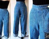 Reserved for Lina - Please do not purchase -1950s Freddies of Pinewood High Waist Jeans Reproduction Size 30