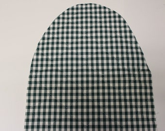 Green and white  McCheck Ironing Bd Cover