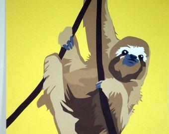 Sloth 8x10 Art Print