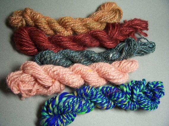 5-Pack Wool Yarn Mini Skeins - Free Shipping in US