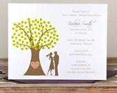 Bridal Shower Invitations, Bridal Shower, Trees, Wedding, Sihlouettes,  Outdoor Wedding, Affordable Wedding