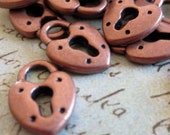 10 - Red Copper  Petite - Lock Charm (RCPLC)