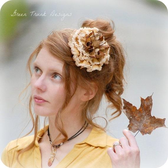 Rustic Sunflower Fascinator Mini Hat Hair Clip