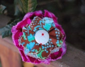 FaBrIc SaSSy FloWeR PiN