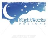 Premade Logo Design - Stars and moon logo