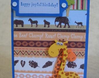 One Happy Birthday card for a boy