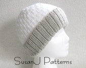 Instant download - Knitting Pattern -  Winter Snow Hat - Size: Ladies - PDF Pattern