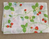 Vintage Pillowcase- Strawberry Fields- Reserved for Cindy