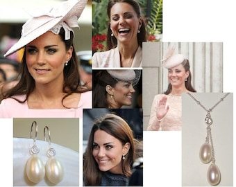 3 pairs - 10-12x7.5-8mm, Fresh Water Pearls, Elongated Drop Shape, Half Drilled AAA lustrous, Best for Bridal, June Birthday