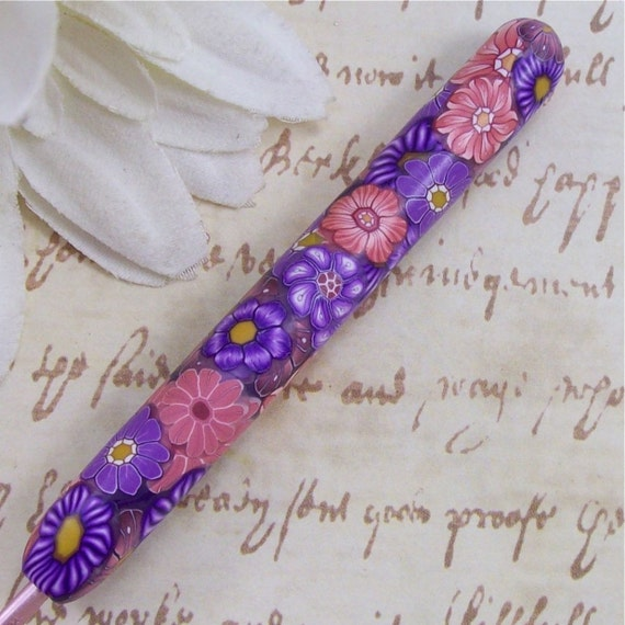 Susan Bates Polymer Clay Covered Crochet Hook, Size C2/ 2.75mm
