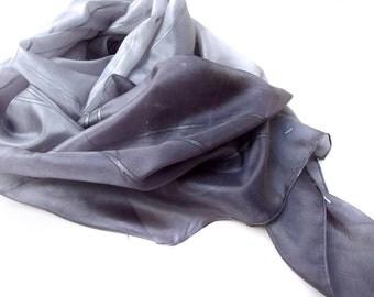 silk scarf, silver lines