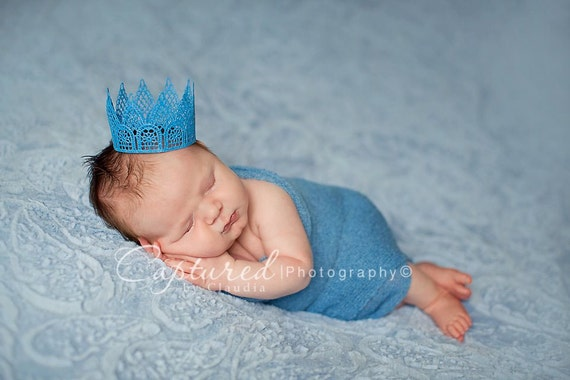 LITTLE PRINCE Newborn Lace Crown Photography Prop