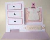 Adorable Baby Girl Dresser Card