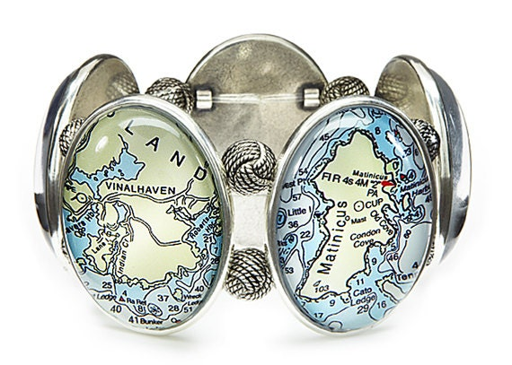 Maine Isles Five-Cameo Stretch Bracelet