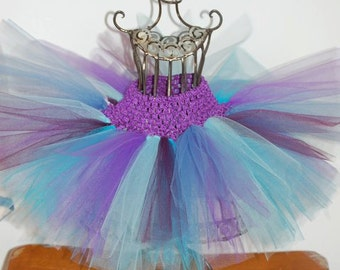Aqua, Turquoise, Smoke Blue, Plum and Purple Tutu,purple and blue tutu,girls tutu,flower girl tutu,birthday tutu,wedding tutu,photo prop