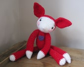 Berry the amigurumi red fox made to order in any colour
