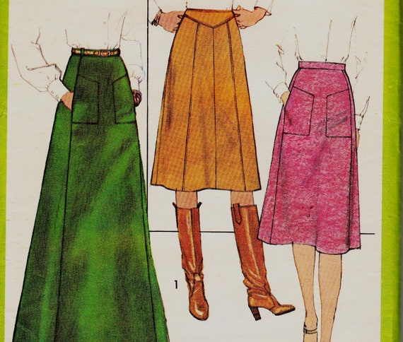 70s Vintage Sewing Pattern Simplicity 8203 Size 16 Waist 30