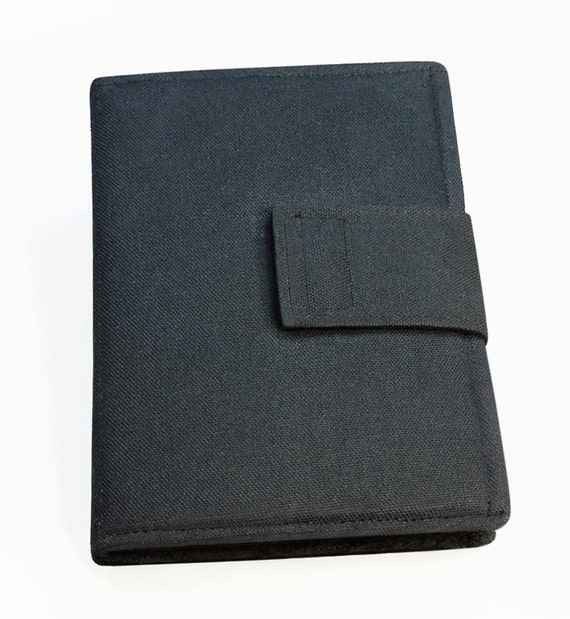 iPad 4 case cover - Book style - Black canvas - RESERVED for Gordon
