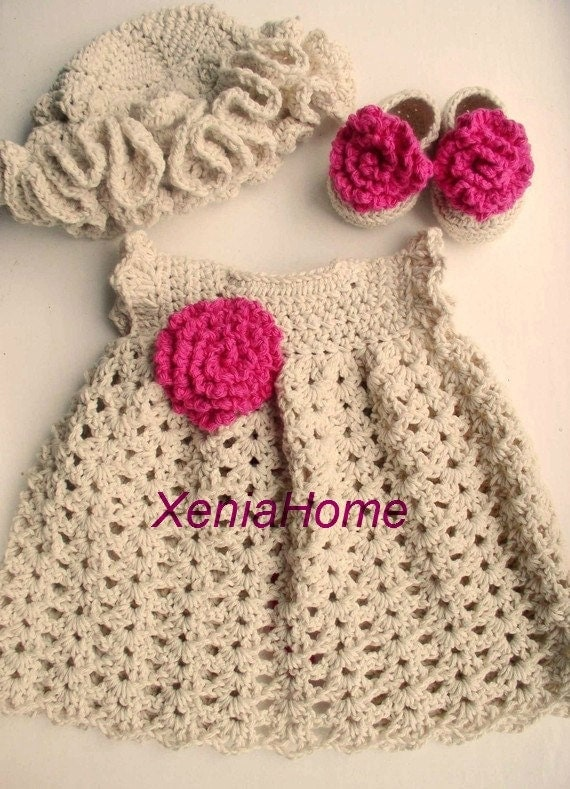Items similar to 0-3 months Baby Girl Dress in Cotton- Shoes ...