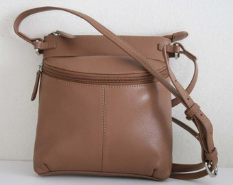 Soft Genuine Leather Saddle Cross body bag, Shoulder bag, Vintage & Cute