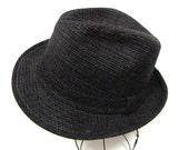 Vintage 60s Bee Hats Dark Grey Fedora