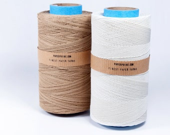 SALE: Medium Paper Twine - WHITE - Sample Size - Knitting, Crochet, Bookbinding, DIY
