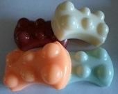 Guest Soap | SALE | Set of 4 Massage Soaps | Guest Size Massage Bar Soap | Teacher Gift | Gift for Her | Gift for Him | Custom Soap
