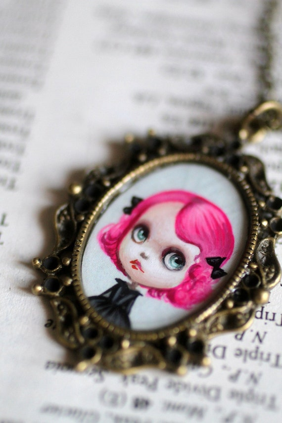 Ardith - Blythe Love - original cameo necklace by Mab Graves