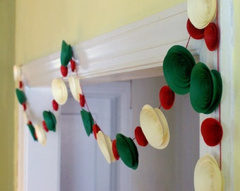 Popular items for paper flower garland on etsy for Arland decoration