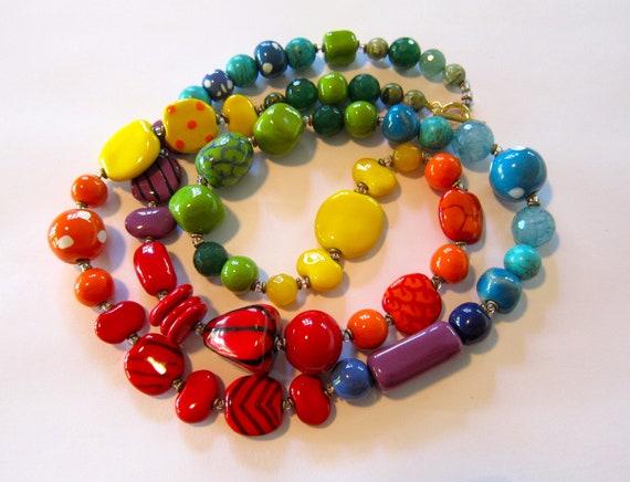 Kazuri Beaded Necklace, Beaded Necklace, Semi Precious Stones, Fair Trade