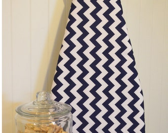 Designer Ironing Board Cover - Riley Blake Chevron Navy