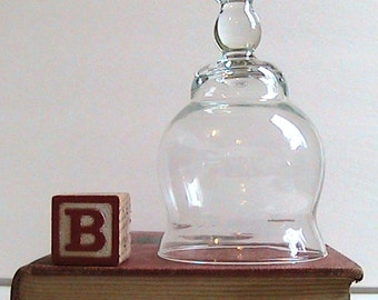 Vintage Clear Glass Dome Cloche Display