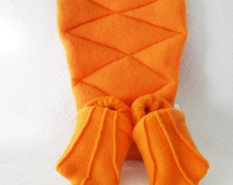 Adult sized Perry the platypus tail and duck feet slippers