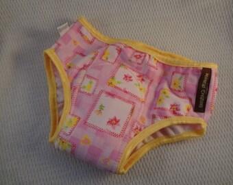 PREMIUM - Cotton Toddler Girls Training Underwear with Waterproof Pad -  Pink Patchwork 2694