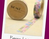 Berry Leaves, Vintage Blue Vine, or Country Yellow with Red/White Flowers  - roll of Washi Tape (15mm x 10m)