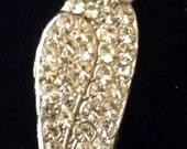 Small Rhinestone Owl Pin