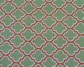 Designer Fabric - Joel Dewberry Deer Valley Collection, Lodge Lattice in Tarragon - 1 yard