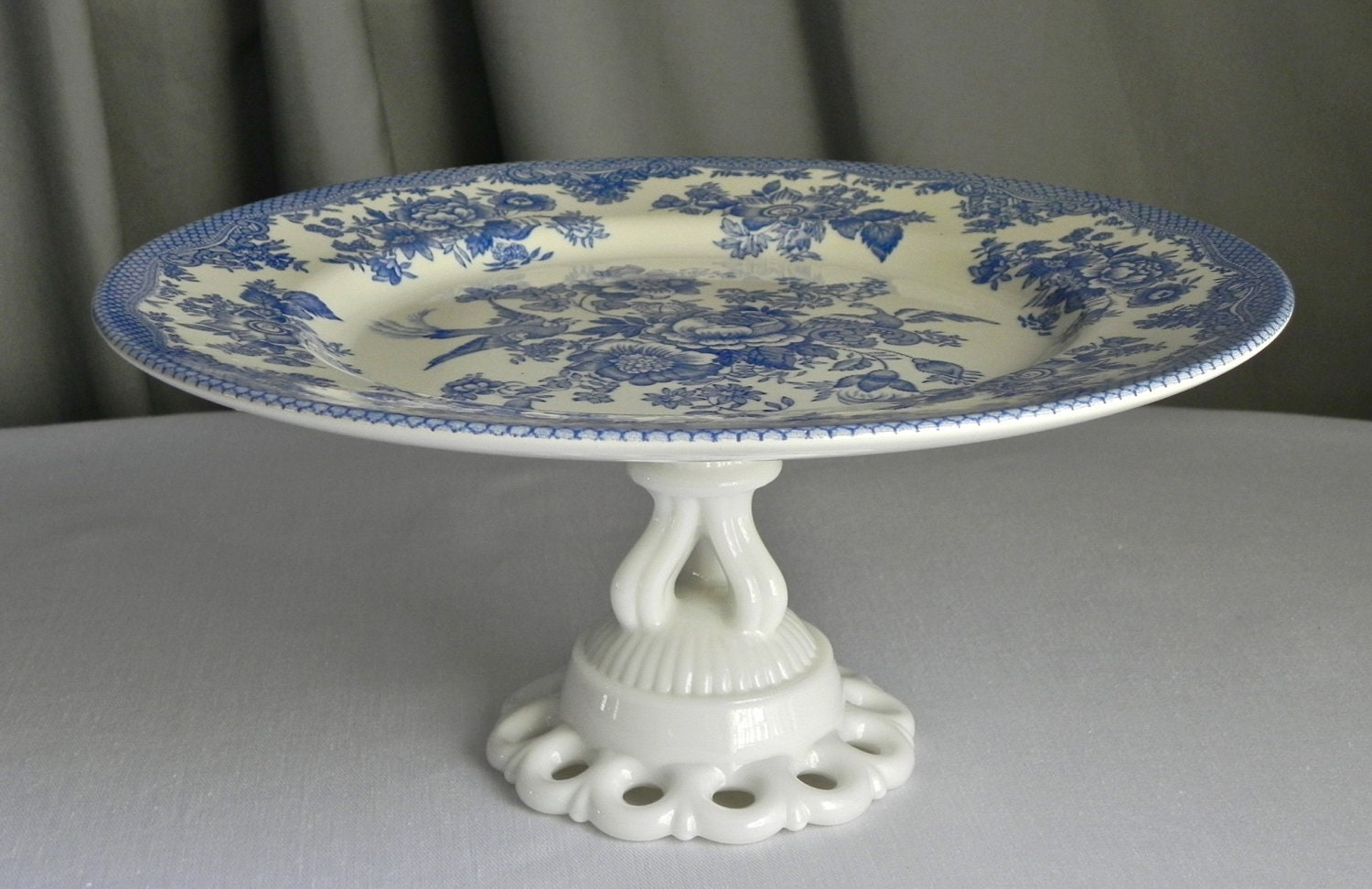 decorative cake stands for wedding cakes vintage cake stand cupcake stand vintage wedding decor blue 13435
