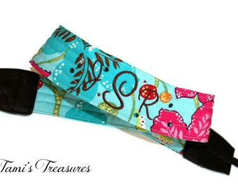 Custom Camera Strap Embroidered DSLR Canon, Nikon Personalized Accessories Photography Gift