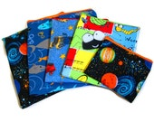 Reusable Sandwich Snack Bags, Eco Friendly, Custom Made to Order - SET OF FIVE, Boys Theme, Cars Solar System Bugs Sharks