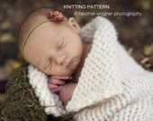 Printable KNITTING PATTERN Open Collar Cocoon - newborn, baby, instant download