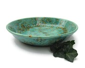 Serving Bowl Earth Tones of Teal Brown