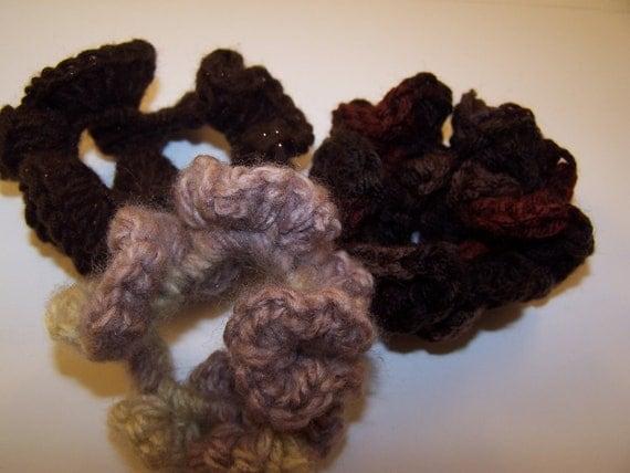 Crochet Hair Elastic : ... Hair Accessories, Crochet Scrunchies, Hair Elastic, Ponytail Holder