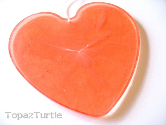 Red Heart , Custom Ornament , Resin Cayenne Red Valentine Ornament , Marble Swirl Heart Shape, Wedding Favor , Hanging Heart