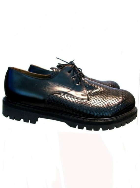 Red Or Dead Shoes Mens Vintage Leather Basket Weave Gibsons UK 10 / US 11